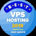 Toegekend aan bedrijven in top 10 voor de beste vps hosting categorie.