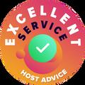 """Wij hebben de tijd genomen om de klantenservice van elk van de bedrijven persoonlijk en anoniem te controleren.  Het """"kenteken van voortreffelijkheid"""" wordt toegekend aan hostingbedrijven waarvan de klantenservice aan het hoge niveau van HostAdvice voldoen, wat inhoud dat ze snel, efficiënt, inzichtelijk, en voornamelijk, nuttig zijn."""