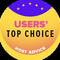 Toegekend aan de top 10 hostingbedrijven met de beste gebruikersbeoordelingen.
